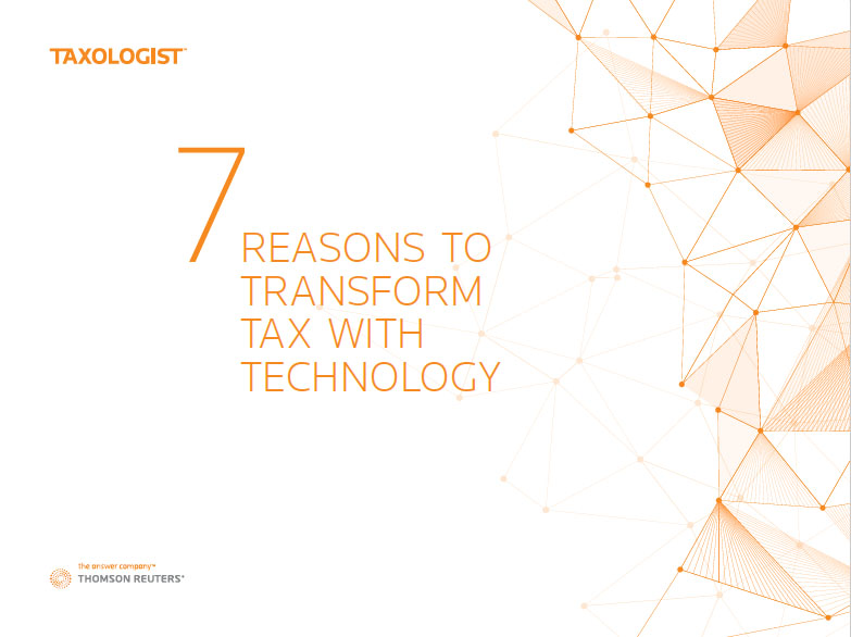 7 reasons to transform tax white paper front page