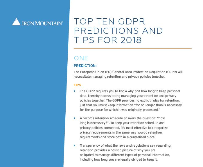 top ten GDPR predictions and tips in 2018