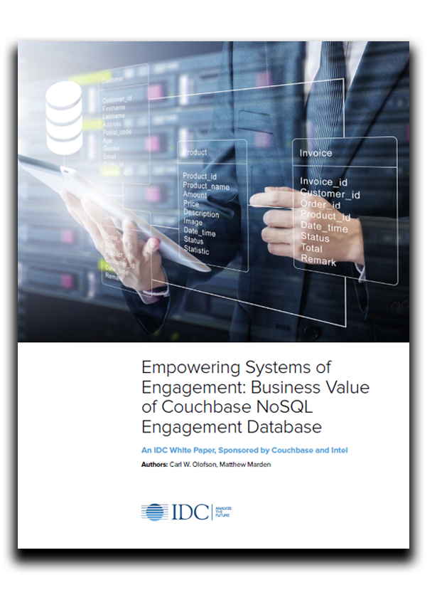 front page of whitepaper of empowering systems of engagement couchbase