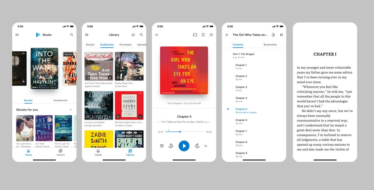 Google upgrades its Play Books app for iOS devices